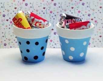 Light Blue Polka Dotted Party Favors, Baby Shower Favors, Party Decorations, Table Decoration, Wedding Favors, Bridal Shower Decor