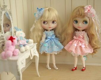 Fraise- NEO Blythe Doll Pink Dress
