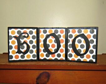 boo wood blocks, Halloween decoration blocks, Halloween boo Blocks,