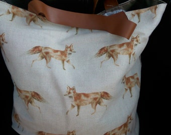Fox print bag - Voyager fabric