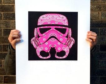 Pink Stormtrooper Screen Print