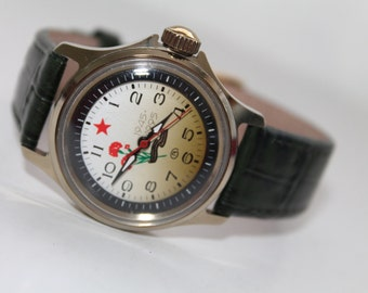 "USSR Russian watch Wostok Vostok.JUBILEE soviet watch ""Wostok"" ""Vostok""1990s.Командирские Vostok watch.Small Watch 1990s!!!"