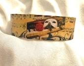 Phantom of the Opera cuff bracelet Custom cuff bracelet Halloween jewelry