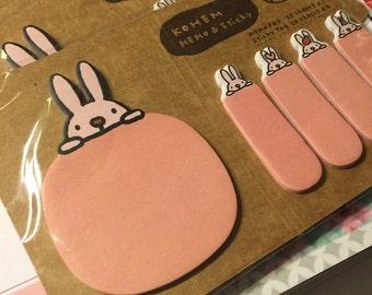 Sticky notes   Kawaii bookmarks - bunny