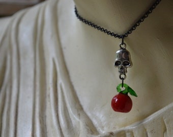 Poison Apple Witch Charm Necklace