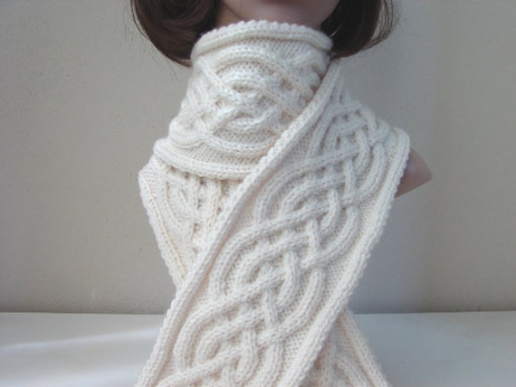 Free Celtic Knitting Patterns : Knitting pattern scarf Celtic scarf by CrochetShopCarolina