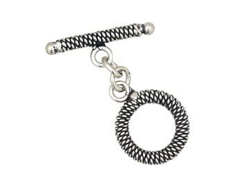 Designer Toggle Clasp -Sterling Silver (#5094)