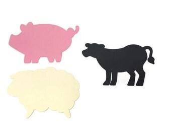 25 Farm Theme Die Cuts, Farm Theme Baby Shower, Farm Theme Birthday Party, Farm Party, Farm Decor, DIY, Farm Birthday, Pig, Sheep, Cow