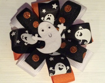 Halloween ghost hair bow