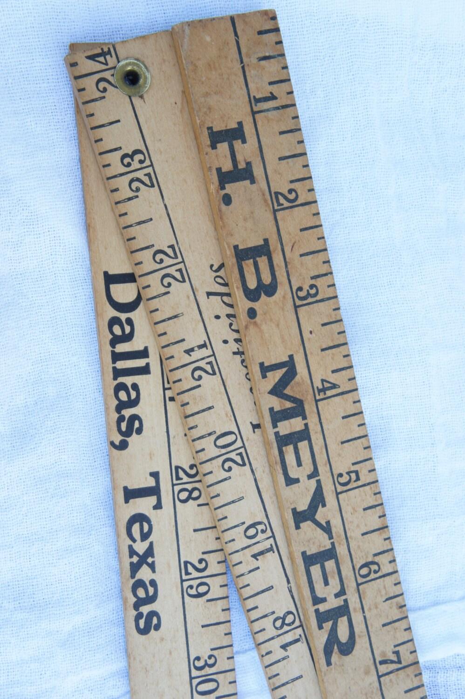Wooden Yardstick Measuring Stick Ruler Antique