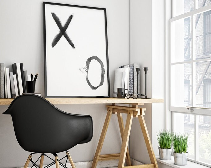 Minimalist XO poster - Printable Illustration / Minimalist Scandinavian Poster / 50X70 Printable Poster / Illustrazione Stampabile