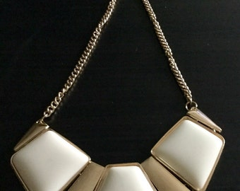 Beige Bib Necklace