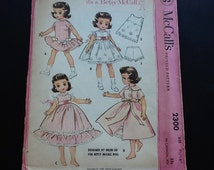 "McCall's pattern 2300. Vintage uncut 1958 Betsy McCall doll wardrobe designed by Helen Lee.  7 1/2""-8"" dolls."