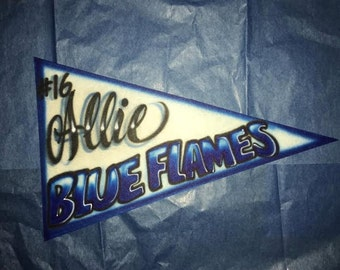 Airbrushed Sports Team Pennants
