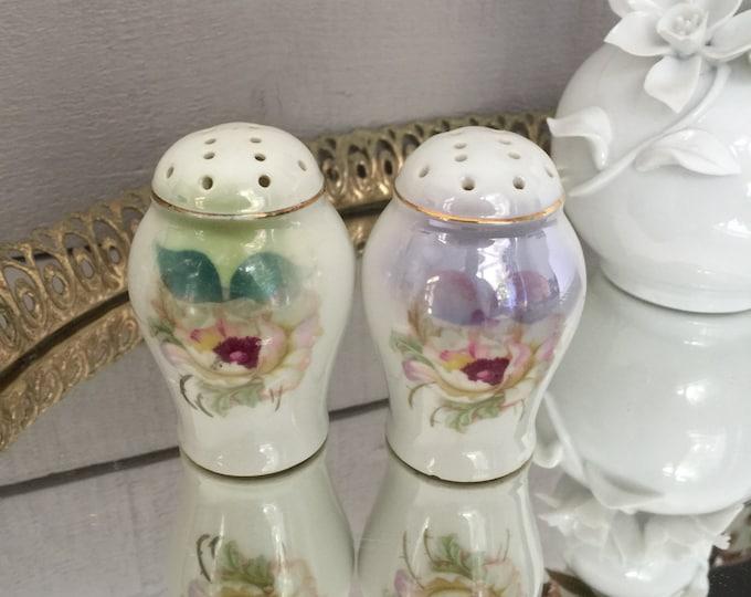 German Porcelain Salt and Pepper Shakers, German Porcelain Shakers, Collectible Shakers, Spice Shakers, Kitchen Decor, Gift for Cook