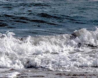 Waves, blue ocean print, beach photo ocean beach blue photography 8 x10 6 x 8 wall decor beach photography fine art photography