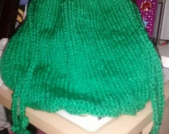 """Light green bag 2 cords 9 """"height"""