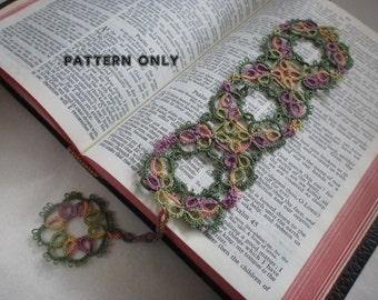 AnnMarie bookmark, pattern,tatting pattern,bookmark pattern, pdf pattern, AlenAleaDesign pattern, AlenAleaDesign