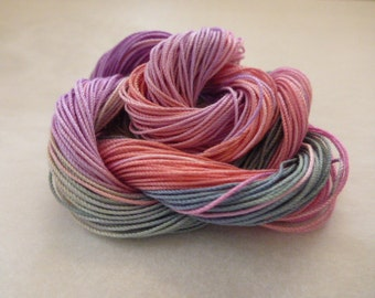 """Hand dyed cotton thread, HDT, Size 10, 15, 20, 40, 50, 70, multycolor,HDT, tatting, crochet,macrame, lacemaking,craft thread, """"Candy"""""""