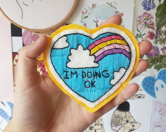 I'm doing ok hand embroidered patch