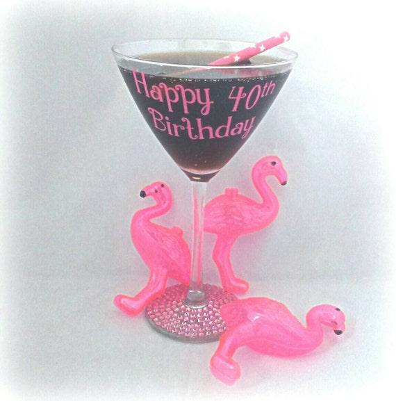 Items Similar To Martini Cocktail Glass, Custom Birthday