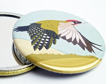 Green Woodpecker Pocket Mirror