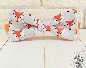 Bow Tie Watercolor foxes, Bowtie, Creative bow tie, Orange bow ties, Funny bow tie, Cute foxes, Cute bowtie, Foxes pattern, Watercolor print