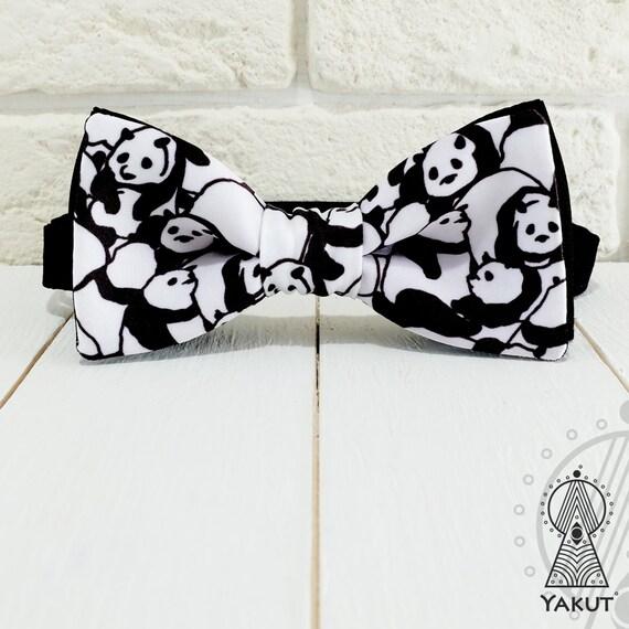 bow tie panda pattern bowtie creative bow tie bowtie for