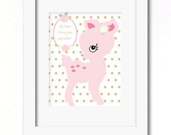 A4 oh my deer print