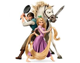 RAPUNZEL - Tangled - Flynn Rider - Maximus - Instant Download - Digital Printable Design - Rapunzel Printable