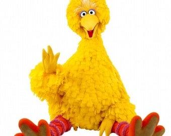 BIG BIRD - Sesame Street - Instant Download - Digital Printable Design - Big Bird Printable
