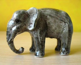 Ceramic Miniature Elephant.