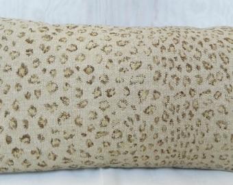 Ralph Lauren MANKETTI Leopard Sand -Decorative Pillow Cover, Lumbar Cover, Euro Sham / Both Sided / All Size