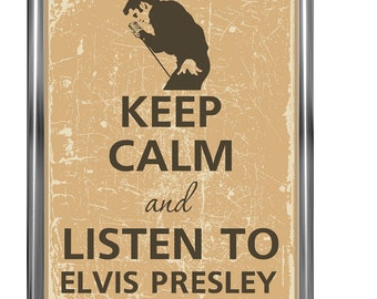 Keep calm poster - Keep calm and - Typography poster - Music poster - Music wall art - Elvis poster - Vintage poster -Wall art prints