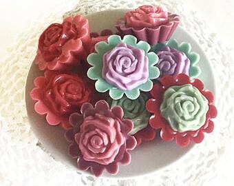 Rose Cake Tarts Special Occasion Favors, or Melting Tarts