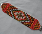 Red bracelet, beaded bracelet, ethnic jewelry, Ukrainian style, amullet
