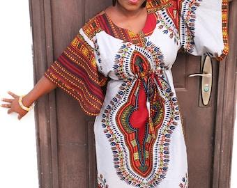 Ankara Boubou Dress, Stylish Dashiki Dress, African Print Dress,  Angelina Print Dress, African Boubou,  Maxi Dress,  Women Caftan Dress