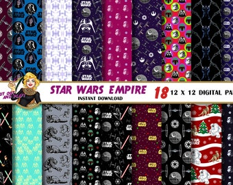 Star Wars digital paper, Darth Vader, Empire, Death Star, Star Wars pattern, background, star wars printable, birthday, party, scrapbook