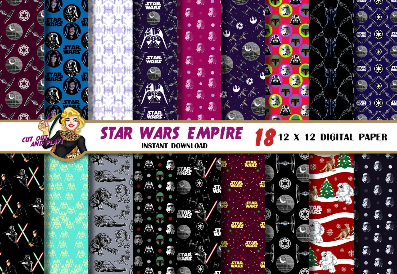 Star Wars Empire digital paper Darth Vaderdeath