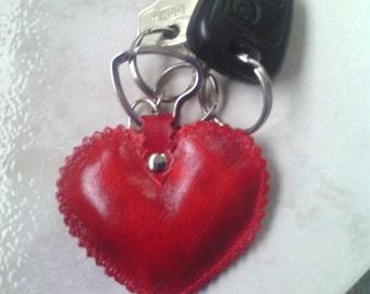 Valentine leather keychain