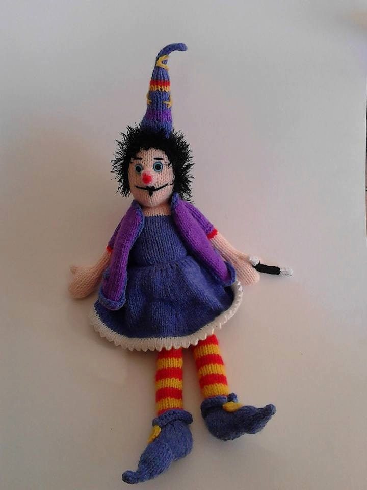 Free Knitting Pattern Witch Doll : Winnie The Witch Doll Knitting PDF Pattern Knitted Witch Toy