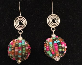 Multicolored Beaded Earring