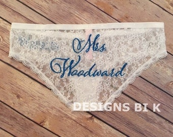 Bridal underwear, Wedding lingerie, Bridal lingerie, Wedding panties, Personalized underwear, Bride Gift, Lingerie gift, Bridal shower gift
