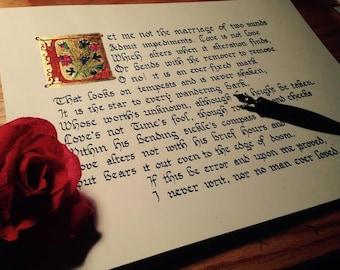 Illuminated Shakespeare's Sonnet 116