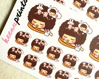 A232 | DREAMING GIRL Repositionable Stickers Perfect for Erin Condren Life Planner, Filofax, Plum Paper & other planner or scrapbooking
