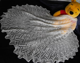 Heirloom christening shawl