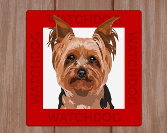 Yorkshire Terrier beware of dog sign