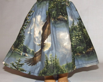 18 Inch Doll Clothes Blue Green Skirt for American Girl Doll