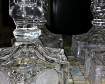 Fostoria Coin Glass Candle Holders Set of Four