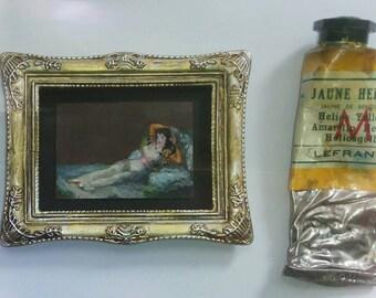 """Version of the """"La Maja Vestida"""" (F.  Goya) (sold)"""